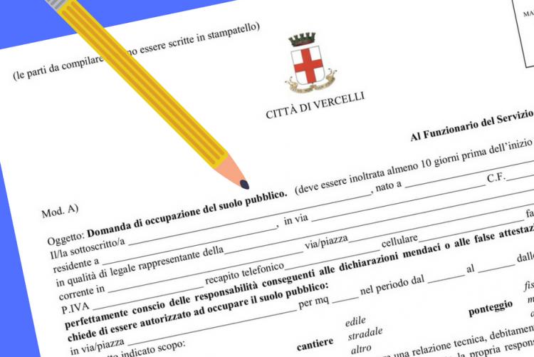 Nuovo modello per la richiesta di autorizzazione all'Occupazione del Solo Pubblico - per automezzi, cantieri e ponteggi