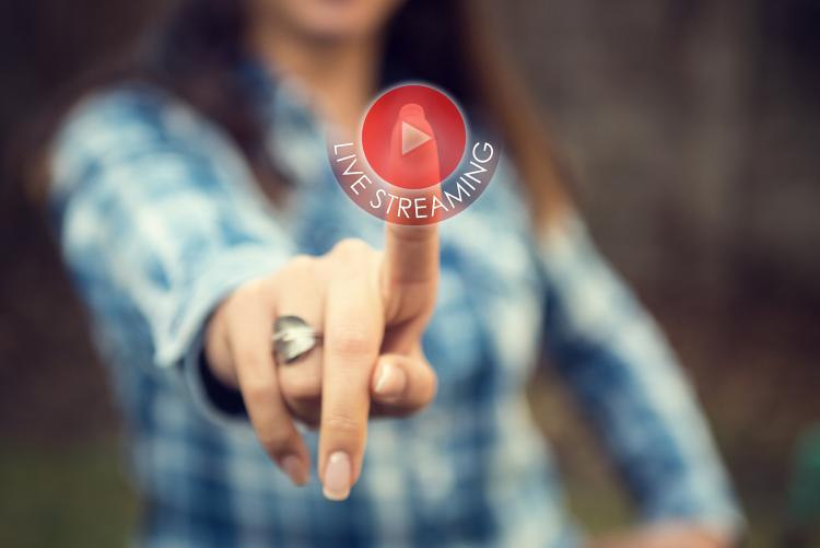 Immagine pulsante streaming video